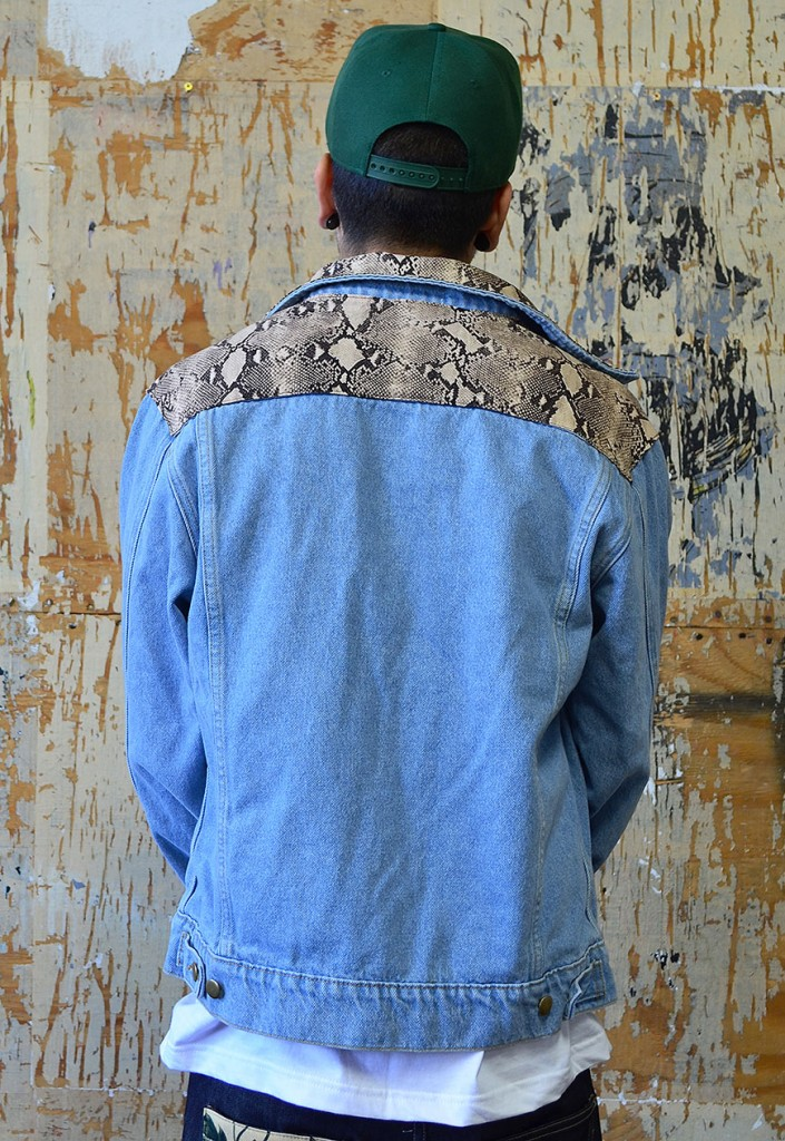 snakey denim jacket (back)
