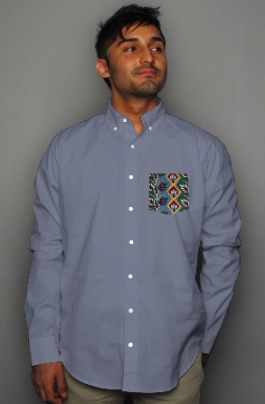 pocket oxford polo shirt