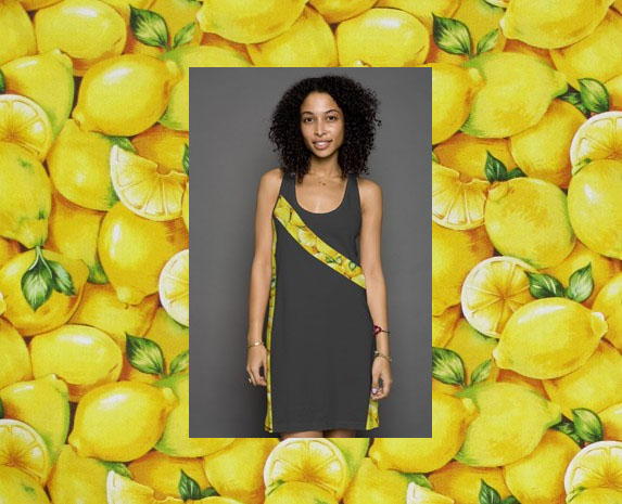 lemony fresh racerback dress